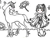 At ve Kız Boyama