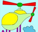Çizgi Helikopter Boyama