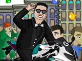 Gangnam Style Motor Yarışı