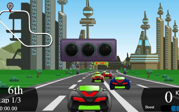 Otomatik Araba Yarışı Şehirde